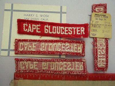 CAPE GLOUCESTER TAB  (RARE ! ) * * PATCH* WW2 Store-Stock* Vintage*Wosk x1
