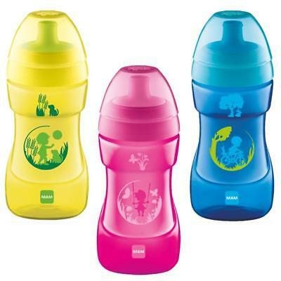 MAM Sports Cup Toddler 330ml  Blue/Pink/Yellow