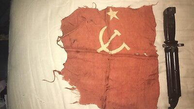 Korean War Bringback Hammer And Sickle Flag