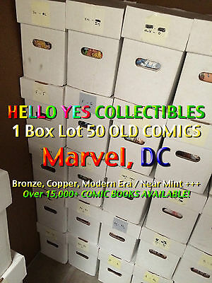 1 Box Lot 50 OLD COMICS (Marvel, DC) Guardians of The Galaxy, Carnage, Superman