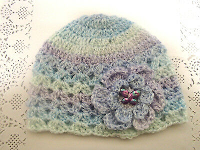 Handmade Crochet Baby Hat in  8 ply baby yarn FH501