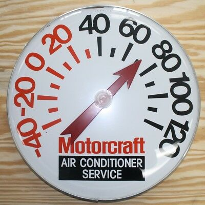 """Vintage Large Ford Motorcraft Gas Oil 18"""" Metal Thermometer Sign Repro?~Works"""
