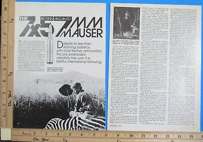 1986 THE 7x57mm MAUSER Cartridge 4-Page Magazine Article by FINN AAGAARD 9834