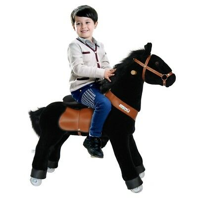 Official PonyCycle Black Ride On Toy Horse Small for 3-5 Years Old