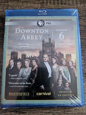 Masterpiece: Downton Abbey - Season 6 (Blu-ray Disc, 2016, 3-Disc Set)