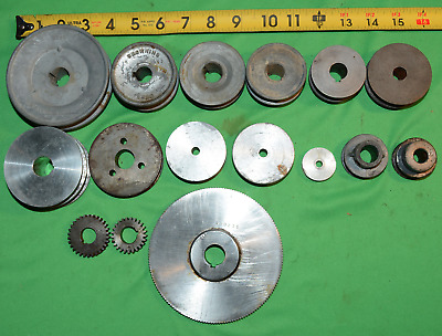 Lot Of 16 Good Clean Useable Drive Pulleys And Gears Lathe / Steampunk Browning