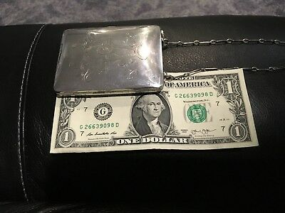 Antique Sterling silver coin purse beautiful uneque.