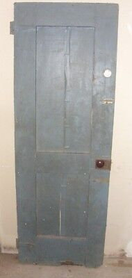 Antique Vintage Wood Interior  Door Grey on one side and brown on the other side