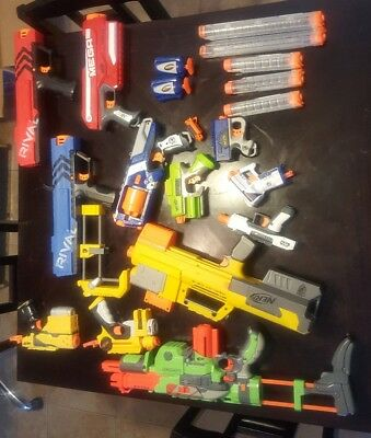 (Used) Nerf Gun Lot clean disinfected Works great