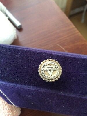 """MARKETER CONOCO PRODUCTS 15 Year Service Award PIN Sterling Silver 5/8"""""""