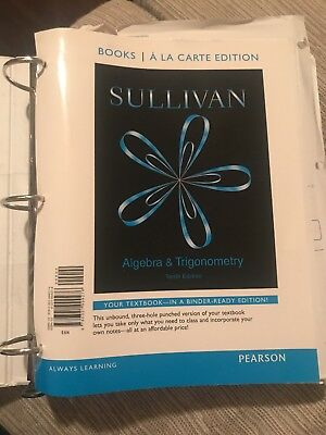 Algebra and trigonometry by robert f blitzer 2012 hardcover 5th algebra and trigonometry books a la carte edition by michael sullivan 2014 fandeluxe Choice Image