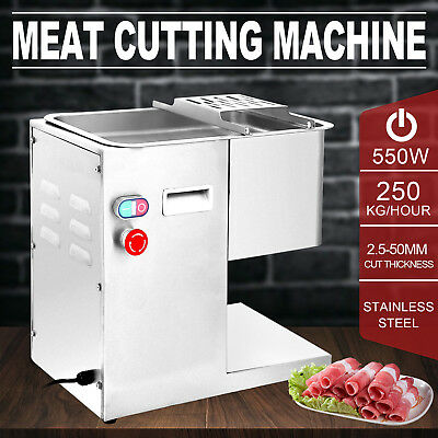 250Kg/Hour Stainless Steel Meat Cutting Machine 550W Lamb 3mm Blade Kitchen