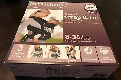 e00b85c1cf1 Infantino Sash Wrap and Tie Baby Carrier Chevron Mei Tai Style Carrier