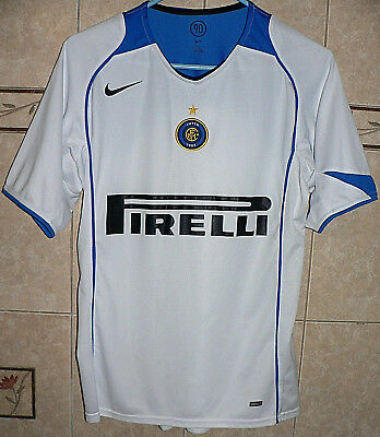 INTER MILAN ITALY Authentic Nike 90 White Away Jersey Small Size ... 876e888f1