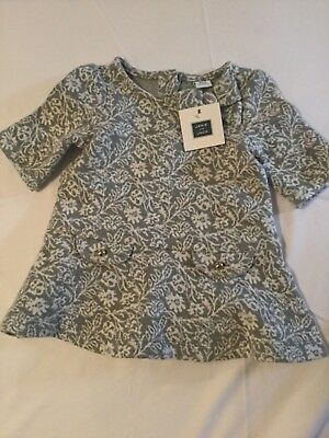 Janie And Jack Baby Girl Dress Size 3-6 Months grey  NWT MSRP 59.00