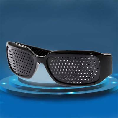 Pinhole Glasses Black Eyesight Improvement Vision Care Exercise Eyewear M