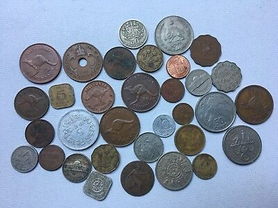 Lot Of Older Mixed World Coins