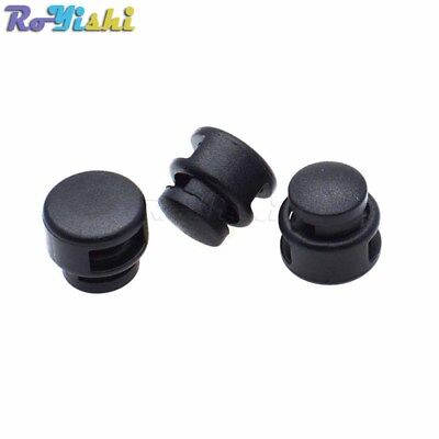 Plastic Cord Lock Stopper Toggle Clip Black For Paracord Size:14mm*14mm