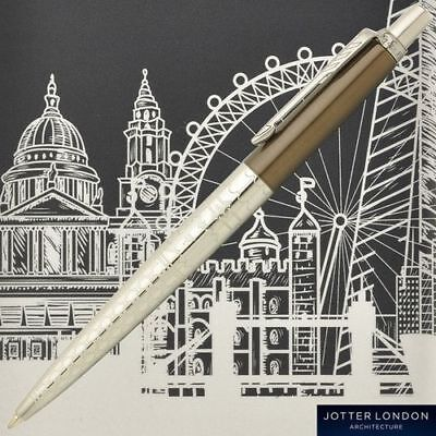 PARKER Jotter Special Edition Brown Silver Ballpoint Pen London Architecture NEW