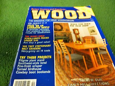 Wood Magazine By Better Homes U0026 Gardens   April 1989   Build This Table