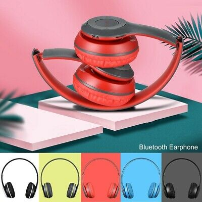 Bluetooth Headphones Stereo Headset Wireless Foldable Mic Earphone for iPhone x