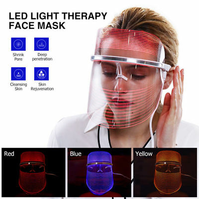 LED Light Photon Therapy Mask Skin Care Anti-Wrinkles Deep Cleansing Facial Mask