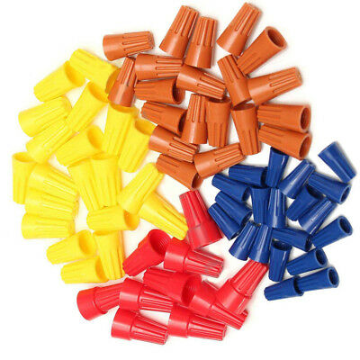 70Pcs Assorted Electrical Wire Twist Connectors Terminals Cap Nut Rotating Kit