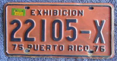 Peurto Rico License/number Plate # 22105-X