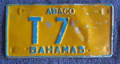 Bahamas Truck License/number Plate # T7