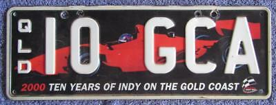 Indy Graphic 2010 License/number Plate # 10 Gca