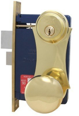 Marks Lock 21 Brass Series Unilock 21Ac Mortise Lock For Security Door And Storm