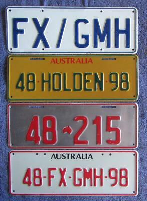 HOLDEN RELATED x 4 LICENSE/NUMBER PLATES
