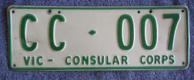 Consular Vic License/number Plate # Cc-007