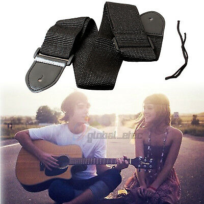 Nylon Guitar Strap Belt Replacement Adjustable for Acoustic/Electric/Bass Black