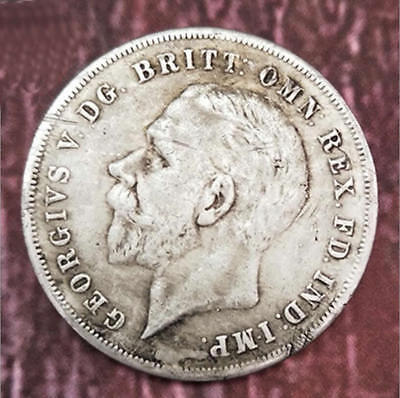British George V 1935 UK Great Britain Silver Crown Coin King Rocking Horse Coin