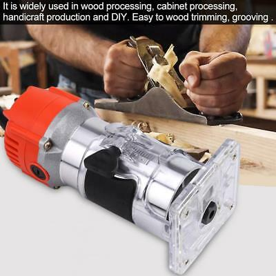 """220V 30000R/MIN Electric Hand Trimmer Wood Laminator Router Tool Set  6MM 1/4"""""""