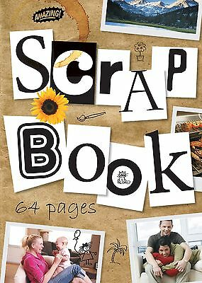 Scrapbook Jumbo Extra Large Scrap Book Cutting Craft Album 64 Pages - Pack 6