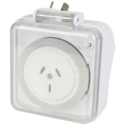 Brand New 240VAC Suitable for outdoor use 24HR Mechanical Mains Timer MS6109