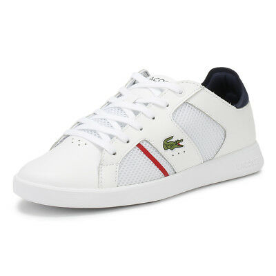 d824909b8c54 Lacoste Mens Trainers White   Navy Novas 218 1 Sport Casual Lace Up Shoes