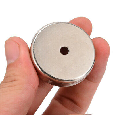 36mm 16LB Pull Ferrite Magnet Pot Magnetic Sucker Disc Disk Round With 5mm Hole