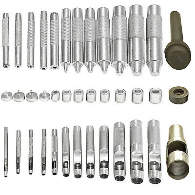 Eyelets Punch Set Tool for Leather Arts & Craft Work Banners Canvas 2mm – 40mm
