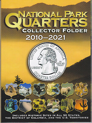 Whitman National Park Quarters Collector Folder 2010-2021