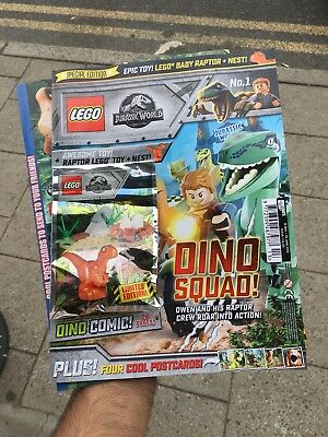 Lego Jurassic World Magazine Issue 1 Special Edition Free Baby Raptor Minifigure