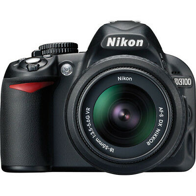 NEW Nikon D3100 14.2 MP Digital SLR Camera With 18-55mm VR Lens (2 LENSES)