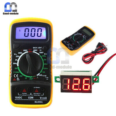 XL830L Digital LCD Multimeter Voltmeter Ammeter DC Circuit VOLT Tester Checker