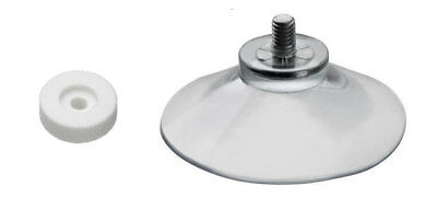 Suction Cups 40mm Thumb Screw - Clear Plastic/Rubber Window Suckers  (CHEAPEST)