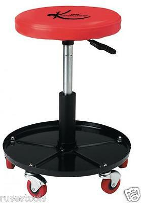 Padded Mechanic / Garage / Workshop Seat / Stool with Pneumatic Lift - Clearance