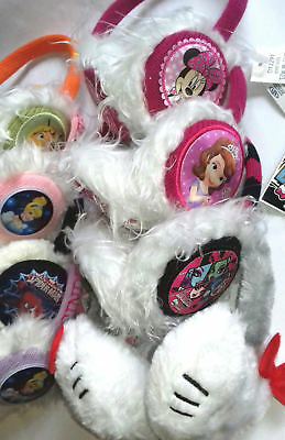 1 x Disney Kids Earmuffs Headband Boys Girls Ears Warm Winter Cute Fur Fluffy