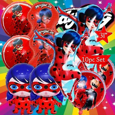 MIRACULOUS LADYBUG LADY BUG BALLOON balloons BIRTHDAY PARTY SUPPLIES CUP PLATE
