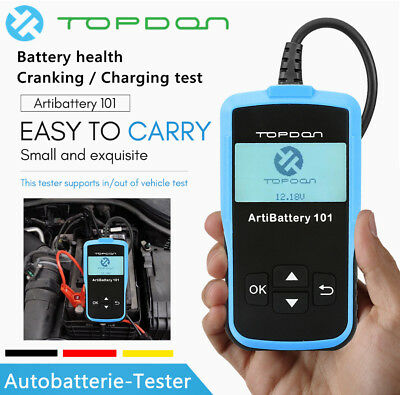 Auto Batterietester Batterieprüfer Analyzer Checker Diagnose Tool Topdon AB101